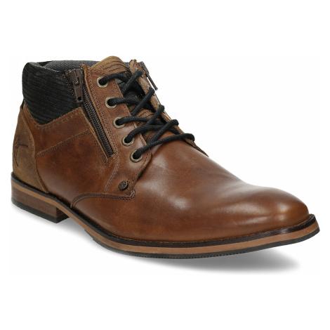 Hnědá pánská kotníková obuv kožená Baťa