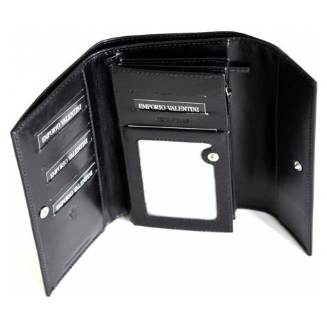 Valentini Dámská peněženka velká klasická kožená černá, 19 x 2 x 11 (SV00-563231-09KUZ)