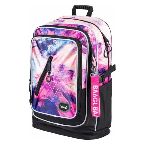 Růžovofialový voděodolný zipový školní batoh pro holky Marcie Baagl