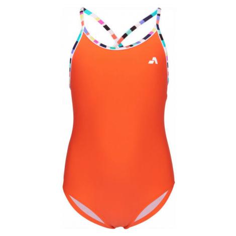 Aress LUMA oranžová - Dívčí jednodílné plavky