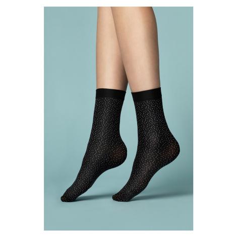 Černé ponožky Pepe Bianco 40DEN Fiore