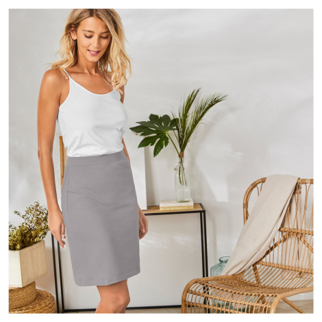 Blancheporte Rovná jednobarevná sukně šedá