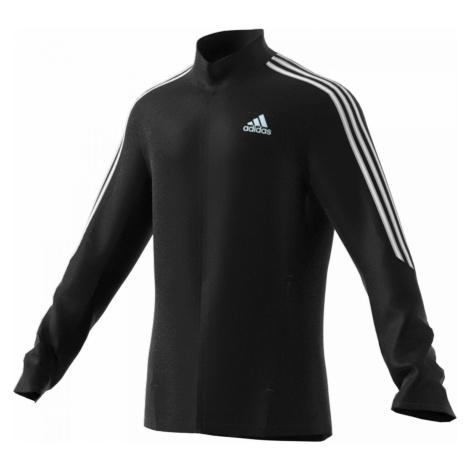 Běžecká bunda adidas Marathon 3-stripes Černá / Bílá