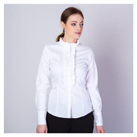 Dámská košile bílé barvy s volánky 11616 Willsoor