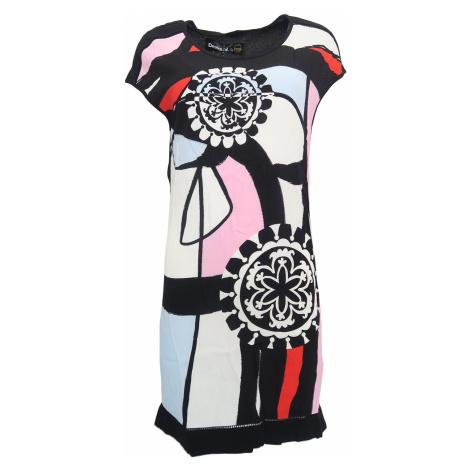 Desigual černé šaty s barevným vzorem