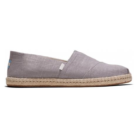 Toms Classic Grey Linen Men's šedé 10014985