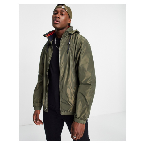 Polo Ralph Lauren Amherst lined concealed hood rain jacket in thermal green