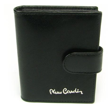 Kožené luxusní pouzdro na karty černé Pierre Cardin