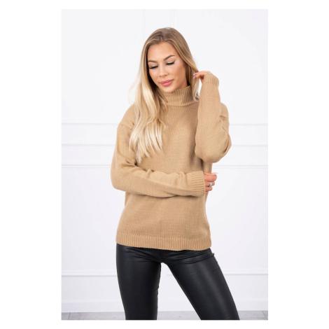 Sweater high neck camel Kesi