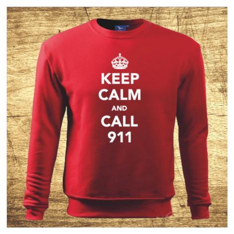 Mikina Keep calm and call 911 BezvaTriko