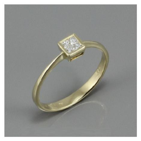 Diamantový zlatý prsten K1249