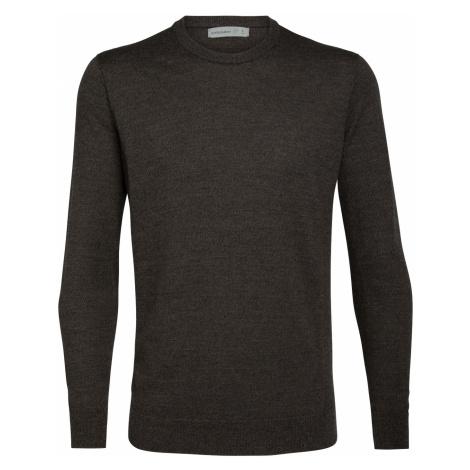Pánské svetr ICEBREAKER Mens Shearer Crewe Sweater, PEAT HTHR Icebreaker Merino