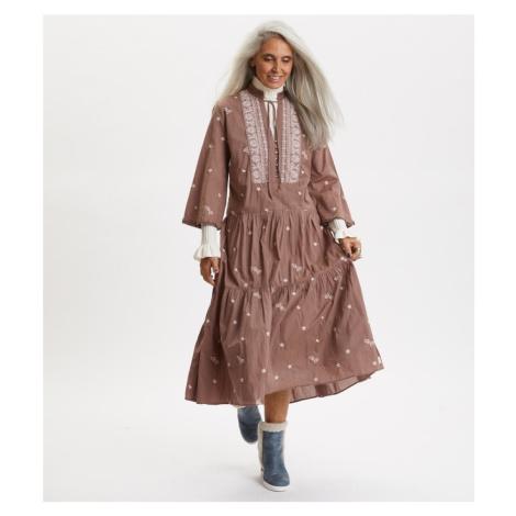Šaty Odd Molly Dance More Dances Dress - Hnědá