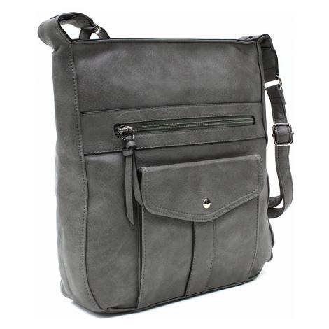 Tmavě šedá dámská módní zipová kabelka Diahann Tapple