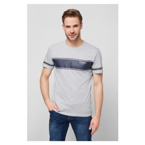 Guess GUESS pánské šedivé tričko s pruhem