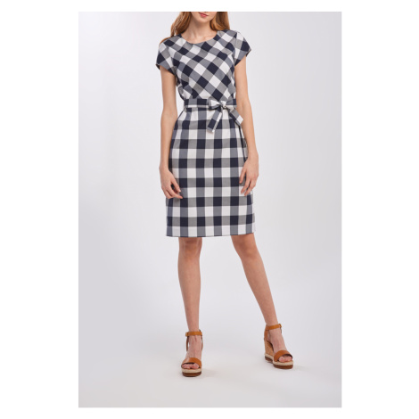 ŠATY GANT D1. FITTED GINGHAM DRESS