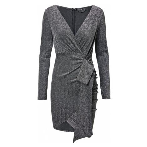 AX Paris Koktejlové šaty stříbrná