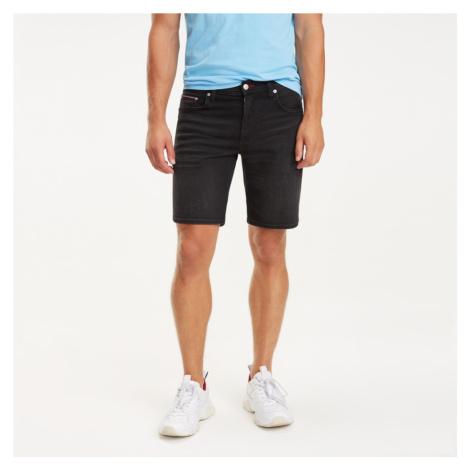 Tommy Hilfiger pánské černé džínové šortky Brooklyn