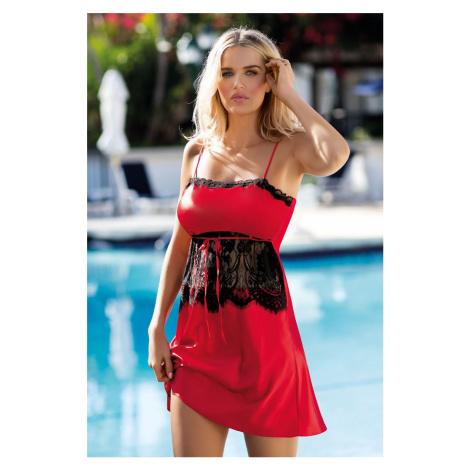 Červená krajková košilka Claire DKaren