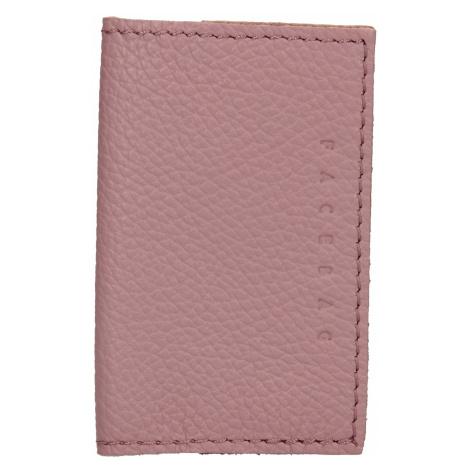 Kožený obal na karty Facebag Paris - růžová