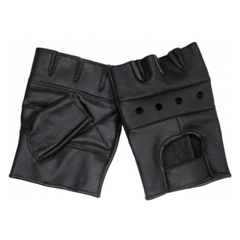 Rukavice bezprsté kožené černé Sturm MilTec