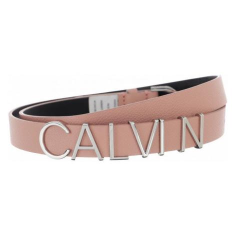 Calvin Klein Calvin Klein dámský růžový opasek LOGO BELT