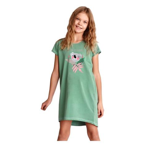 Dívčí noční košilka Gabi zelená Taro