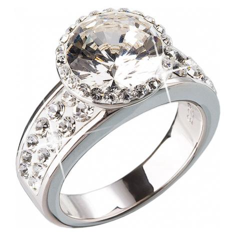 Stříbrný prsten s krystaly bílý 35809.1 Victum