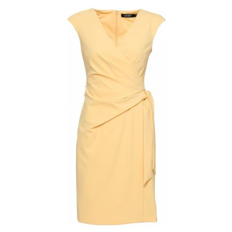 Lauren Ralph Lauren Koktejlové šaty 'SAIDANN' světle žlutá
