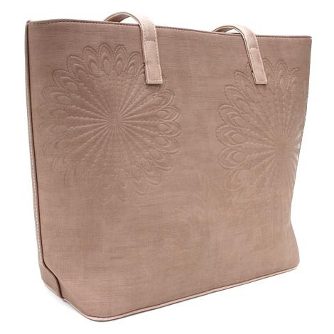 Růžová dámská kabelka do ruky i přes rameno Maurina Tapple