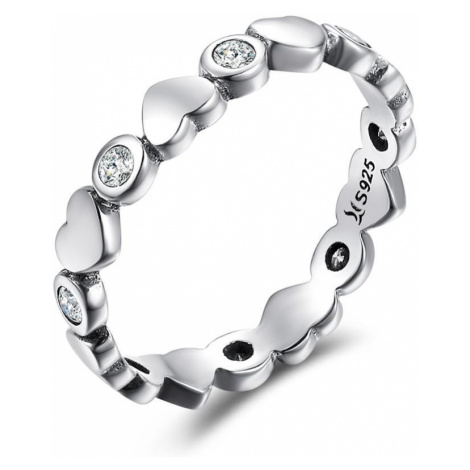 iocel.cz Stříbrný prsten Never Ending Love IPR045 Velikost: 54