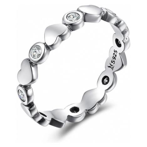 Linda's Jewelry Stříbrný prsten Never Ending Love IPR045 Velikost: 54
