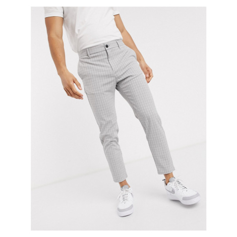 Bershka skinny corduroy trousers in grey