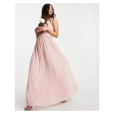 Vila Bridesmaid maxi dress in pink