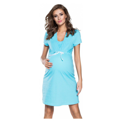 Italian Fashion Těhotenská a kojicí noční košile Alena modrá