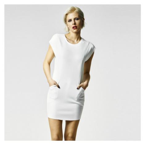 Urban Classics Ladies Scuba Dress offwhite