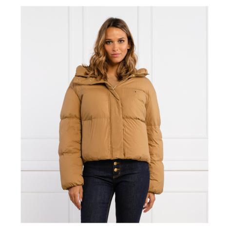 Tommy Hilfiger dámská hnědá zimní bunda Puffer