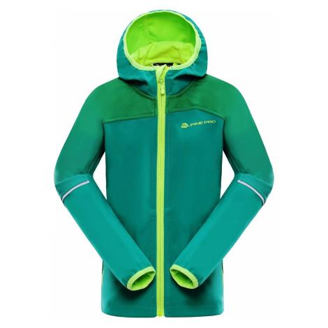 Dětská softshellová bunda Alpine Pro NOOTKO 2 - zelená