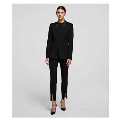 Kalhoty Karl Lagerfeld Punto Pants W/ Logo Tape - Černá