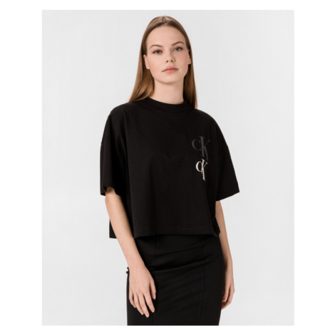 Calvin Klein Calvin Klein dámské černé tričko OVERSIZED RECYCLED COTTON LOGO T-SHIRT