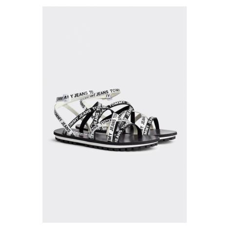 Tommy Hilfiger Tommy Jeans sandále dámské - černá, bílá