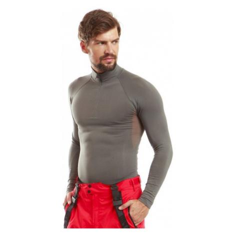 Pánské triko s dl. rukávem Alpine Pro MIES - šedá