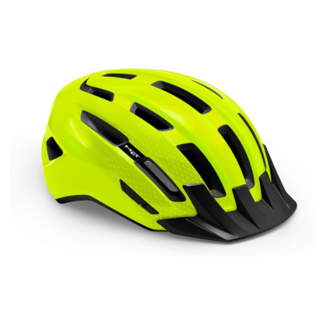 Cyklistická helma MET Downtown reflex žlutá