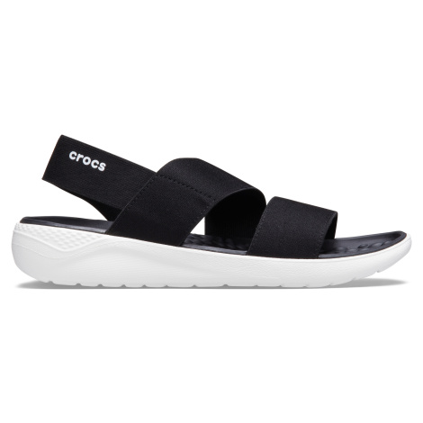 Crocs LiteRide Stretch Sandal W Black/White W9