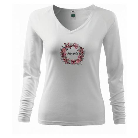 Ženích a nevěsta - květinový věneček (Pecka design) - Triko dámské Elegance