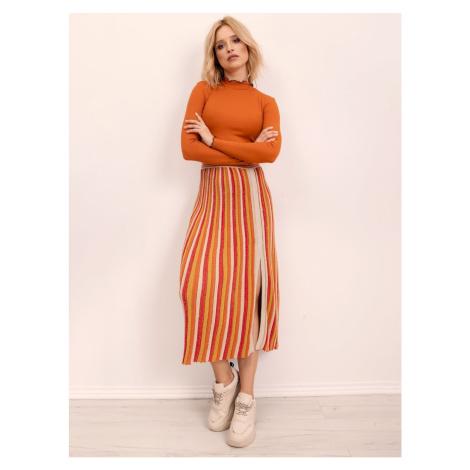Yellow and orange striped BSL skirt Fashionhunters