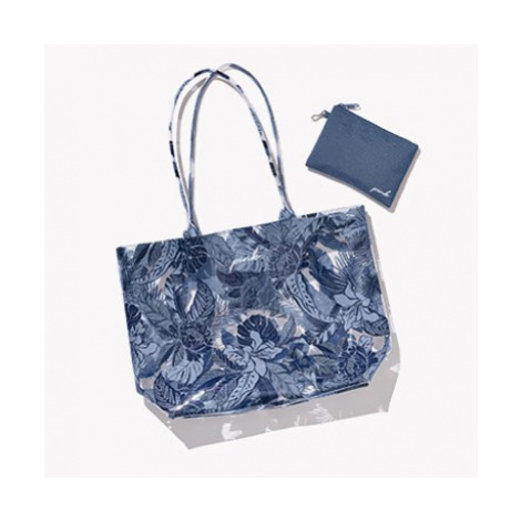 Victorias Secret plážová taška Blue Floral Beach Tote Victoria's Secret
