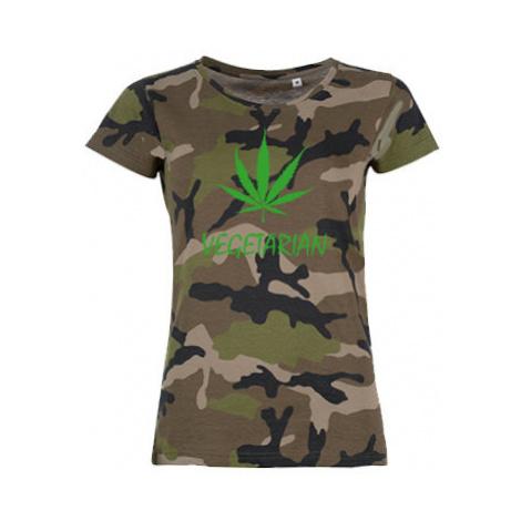 Dámské maskáčové tričko Vegetarián