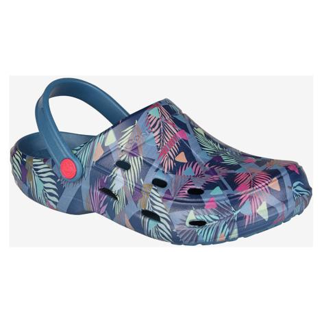 COQUI TINA Dámské sandály 1353-579 Niagara blue tropical triangles