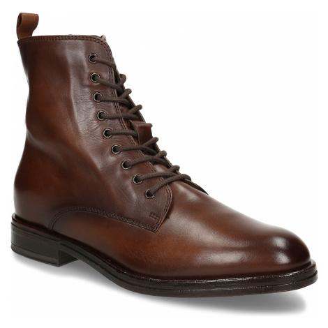 Dámská kožená kotníková obuv na zip Baťa